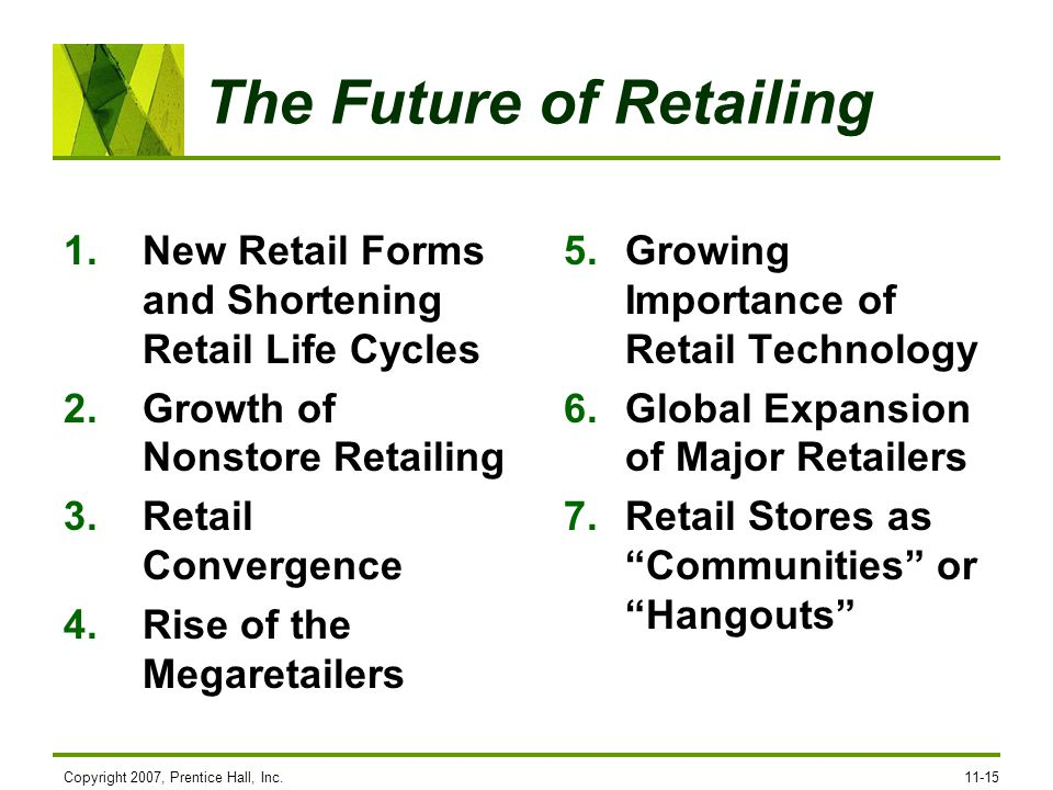 The Future of Retailing