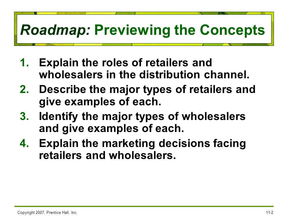 Describe the major types of retailers and give examples of each.