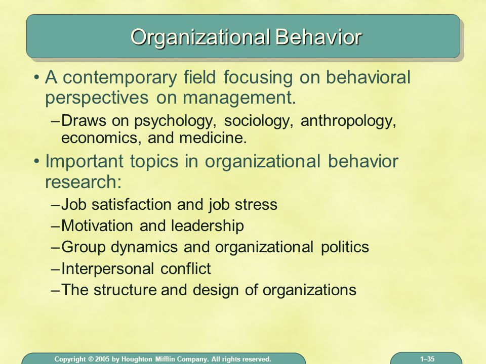 organizational behavior motivation What is 'organizational behavior (ob)' organizational behavior (ob) is the study of the way people interact within groups normally this study is applied in an attempt to create more efficient.