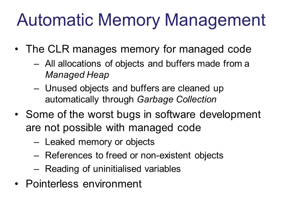 Automatic Memory Management