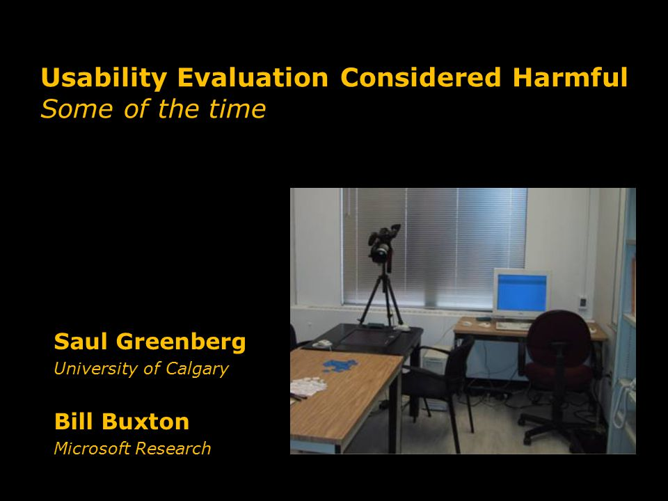 Usability Evaluation Considered Harmful Some of the time