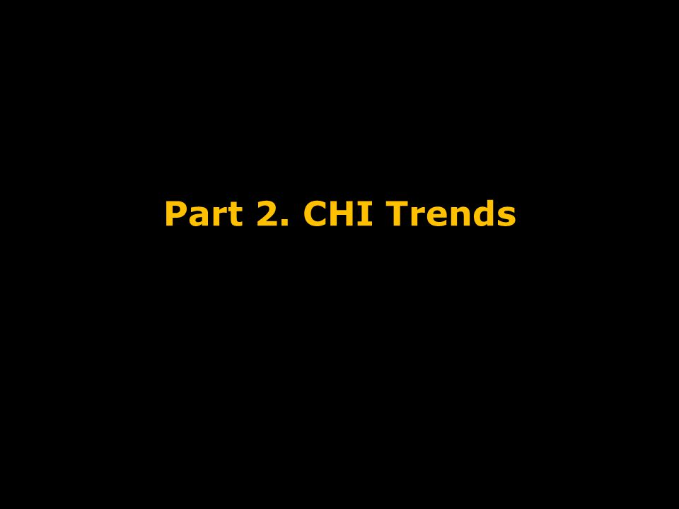 Part 2. CHI Trends Course Introduction