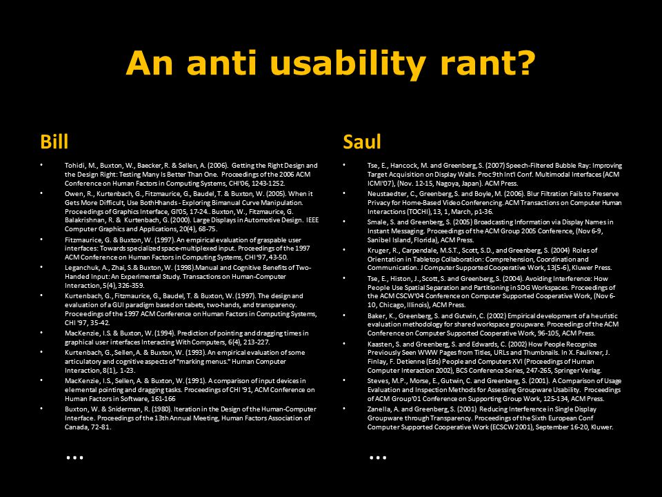 An anti usability rant Bill Saul Course Introduction