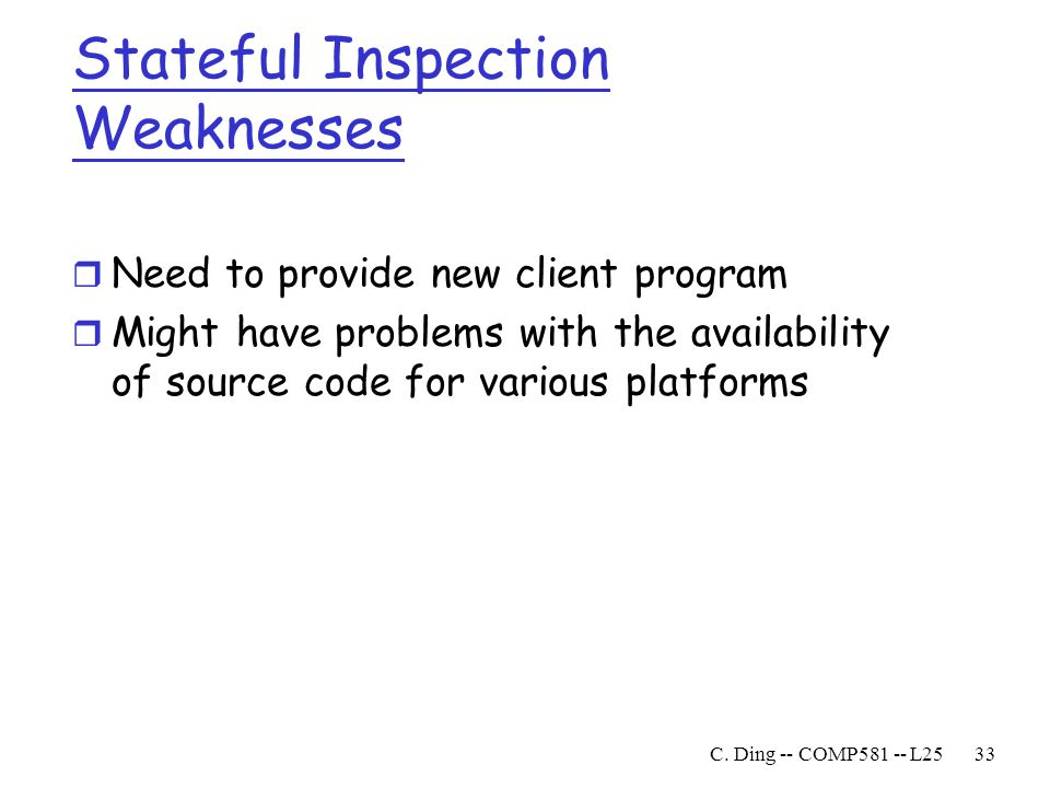 Stateful Inspection Weaknesses