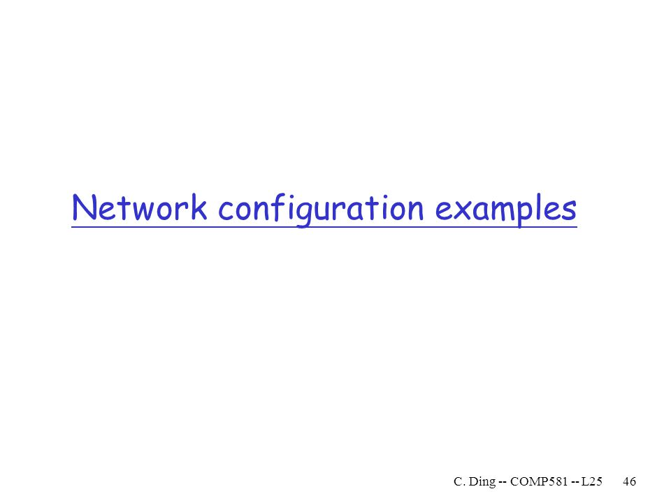 Network configuration examples