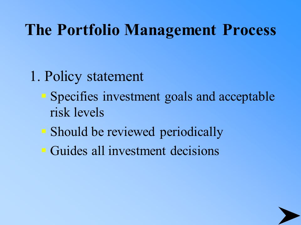 protfolio management and investment decision in Portfolio managers, however, need to have an appreciation for how their investment decision may affect the market in my days as a portfolio manager, our traders were early pioneers in breaking trades into smaller ones and executing them on electronic trading platforms to minimize price impact.