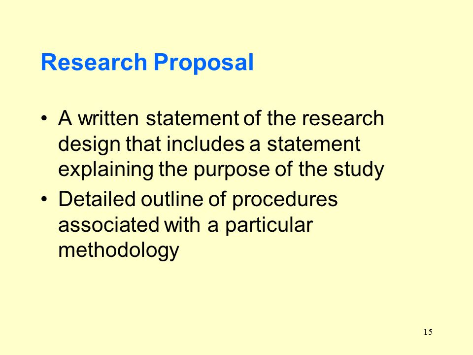 purpose of a research proposal Research proposals - background or significance overview the parts of a proposal research proposals cover letter project purpose.