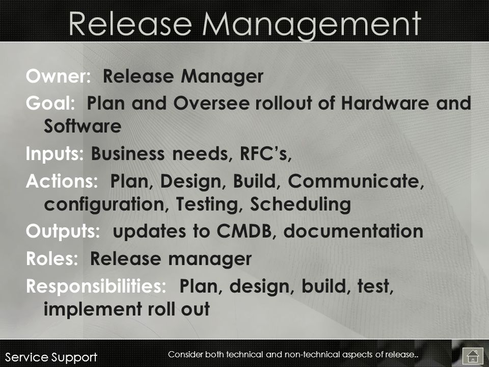 Release Manager Responsibilities Handover Of Duty Or Job