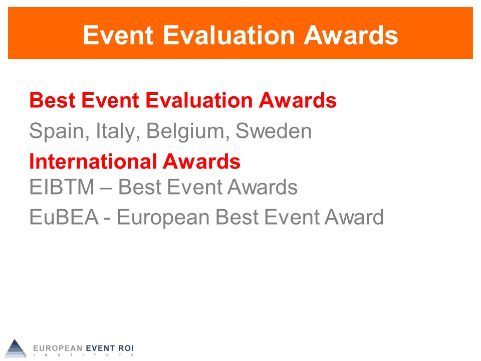 Evaluating Return On Investment European Event Roi Institute - Ppt