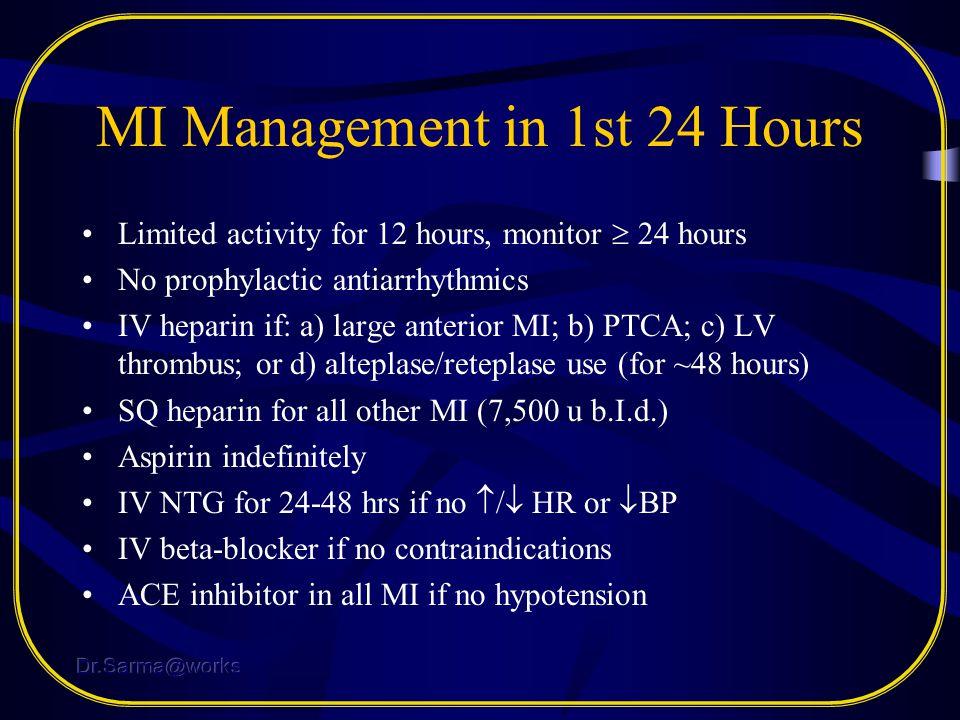 MI Management in 1st 24 Hours