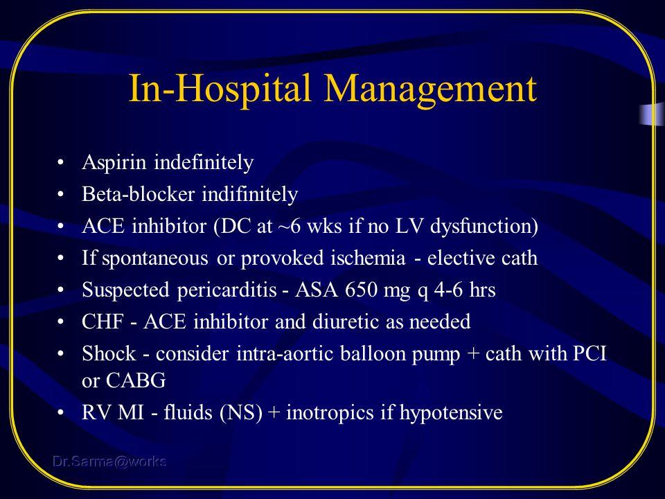 In-Hospital Management
