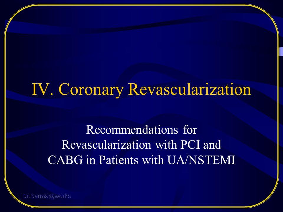 IV. Coronary Revascularization