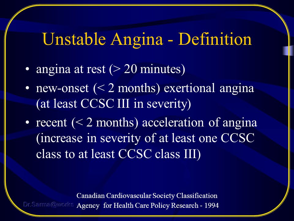 Unstable Angina - Definition