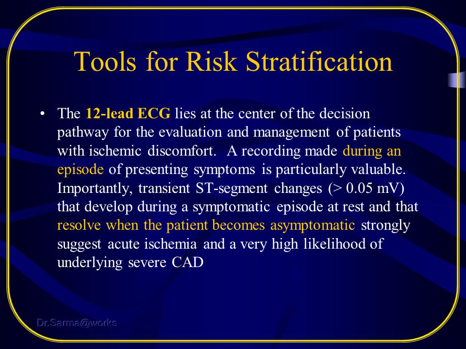 Tools for Risk Stratification