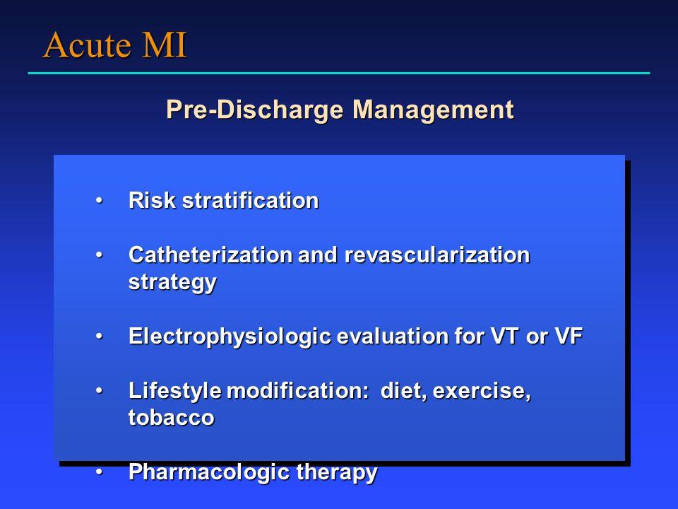 Pre-Discharge Management