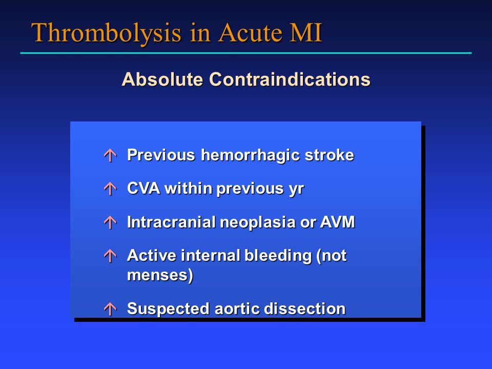 Thrombolysis in Acute MI