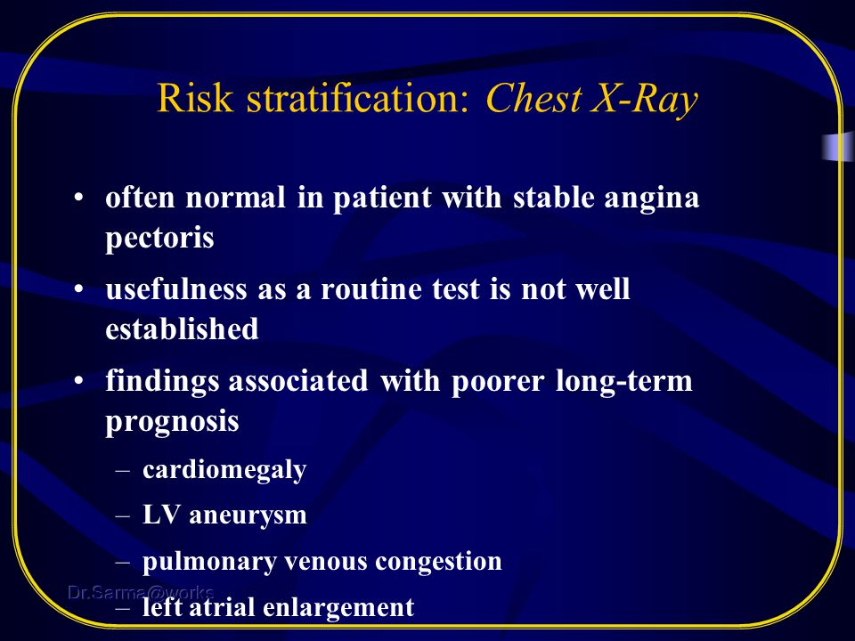 Risk stratification: Chest X-Ray