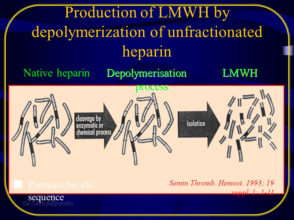 Production of LMWH by depolymerization of unfractionated heparin