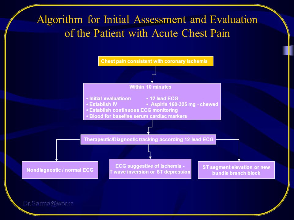 Algorithm for Initial Assessment and Evaluation of the Patient with Acute Chest Pain