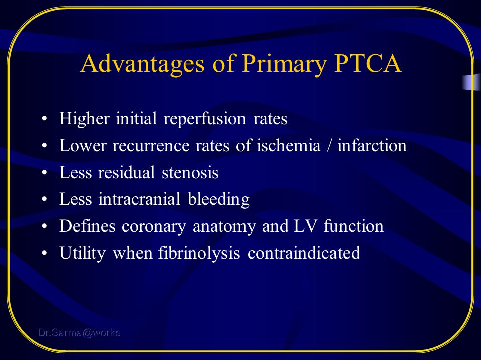 Advantages of Primary PTCA