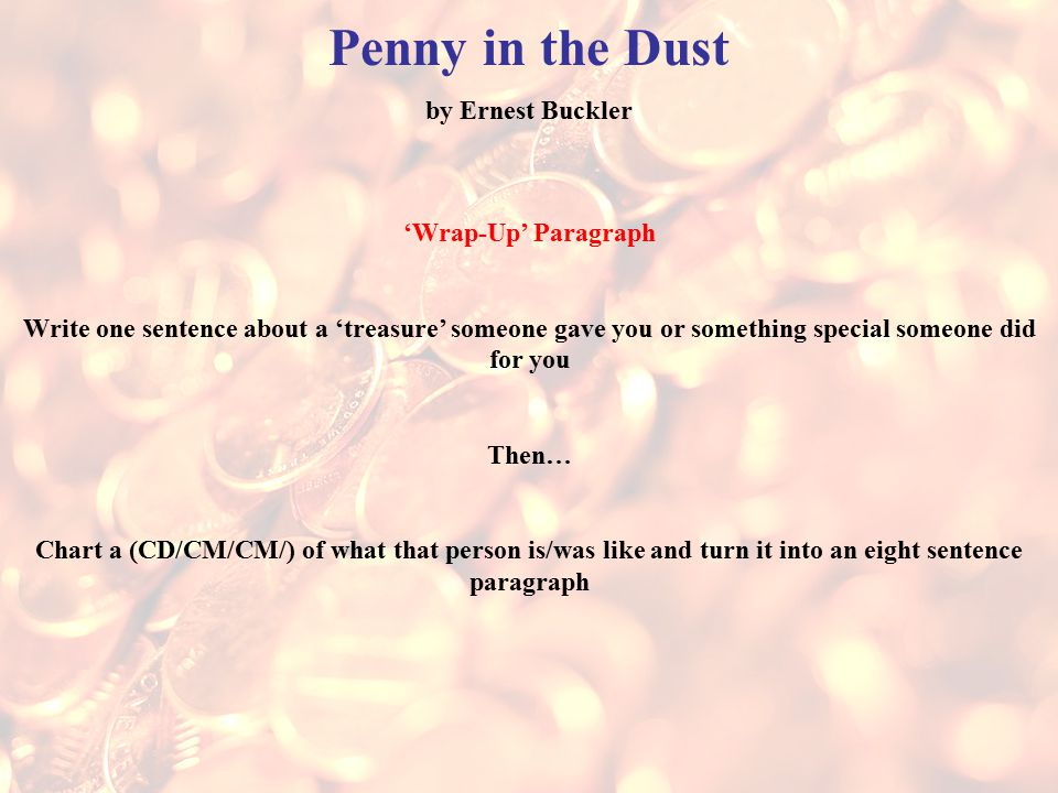 Penny in the dust by ernest buckler essay