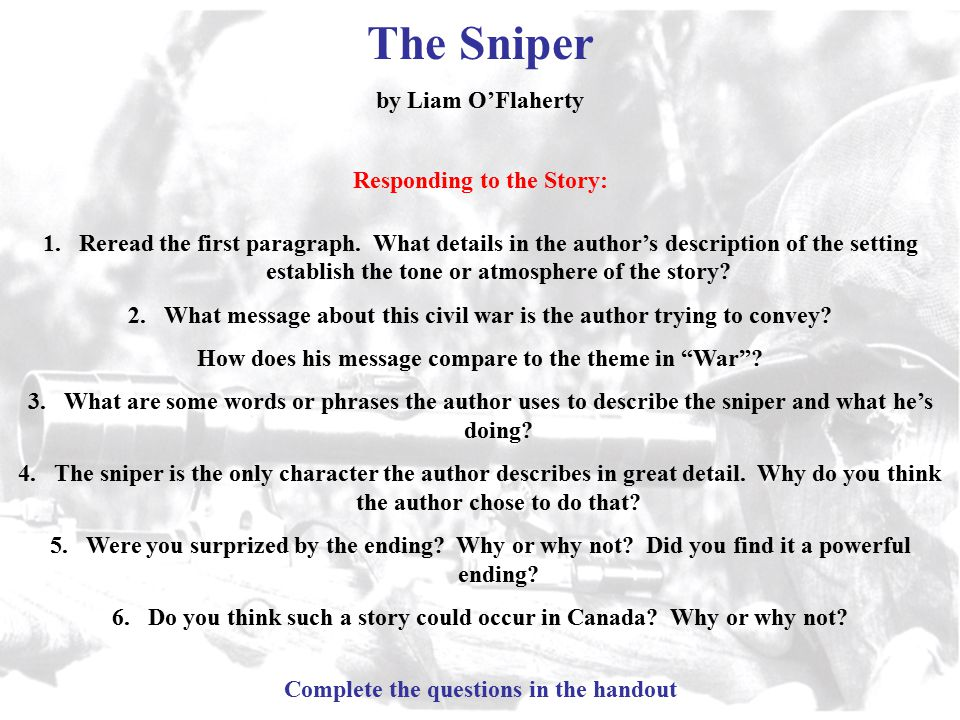 The Sniper Summary