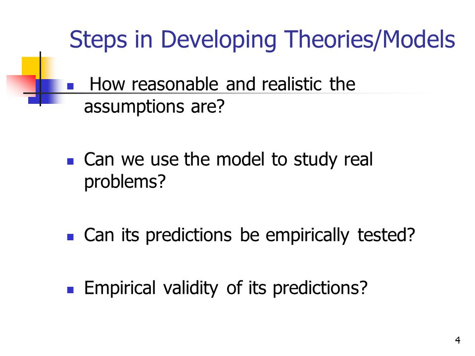 Steps in Developing Theories/Models