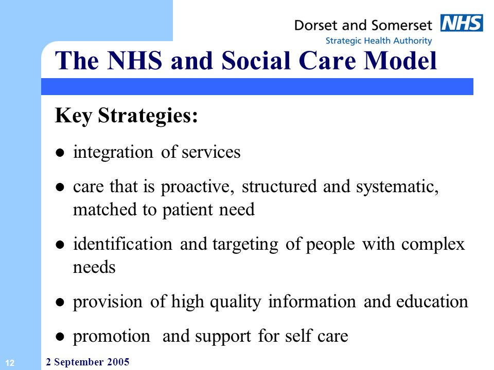 The NHS and Social Care Model