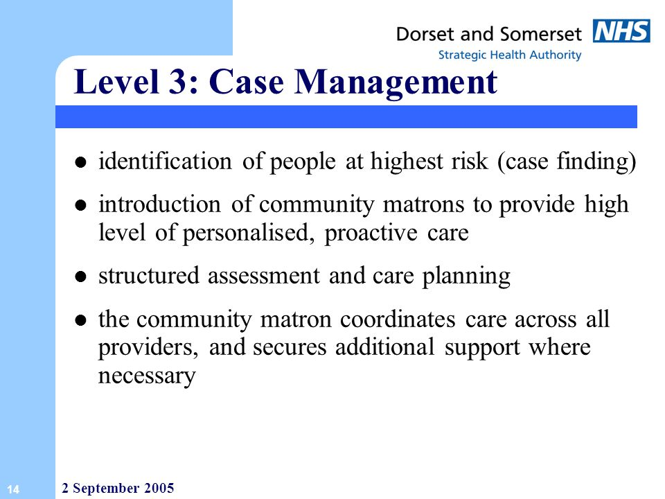 Level 3: Case Management