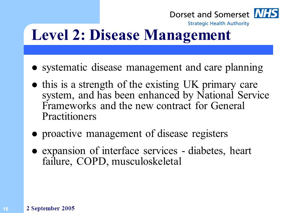 Level 2: Disease Management