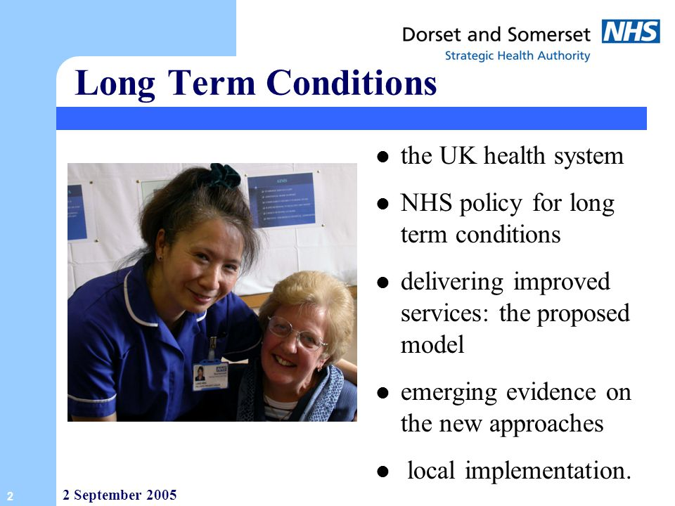 Long Term Conditions the UK health system