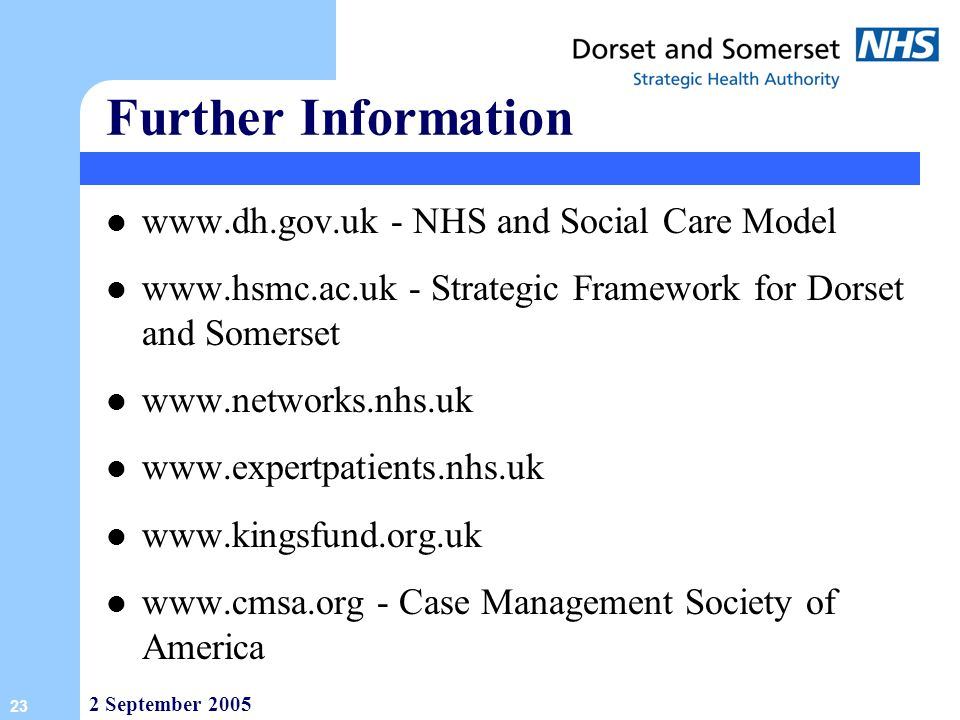 Further Information   - NHS and Social Care Model
