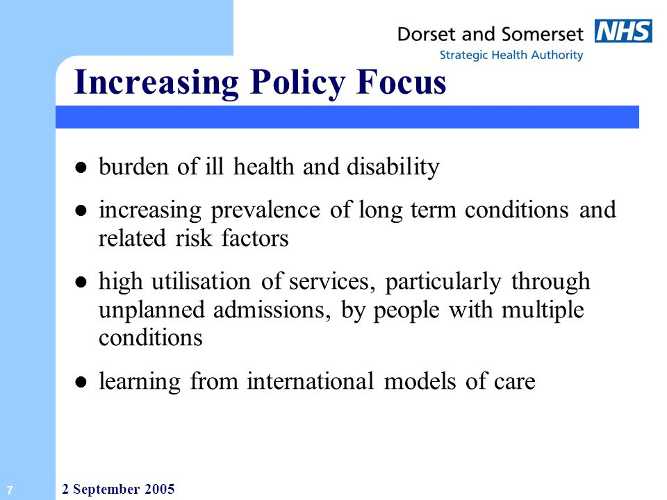 Increasing Policy Focus