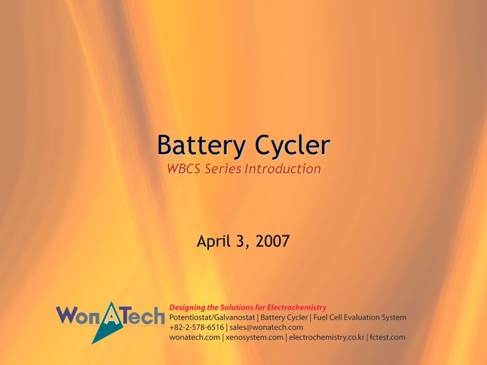 Battery Cycler WBCS Series Introduction