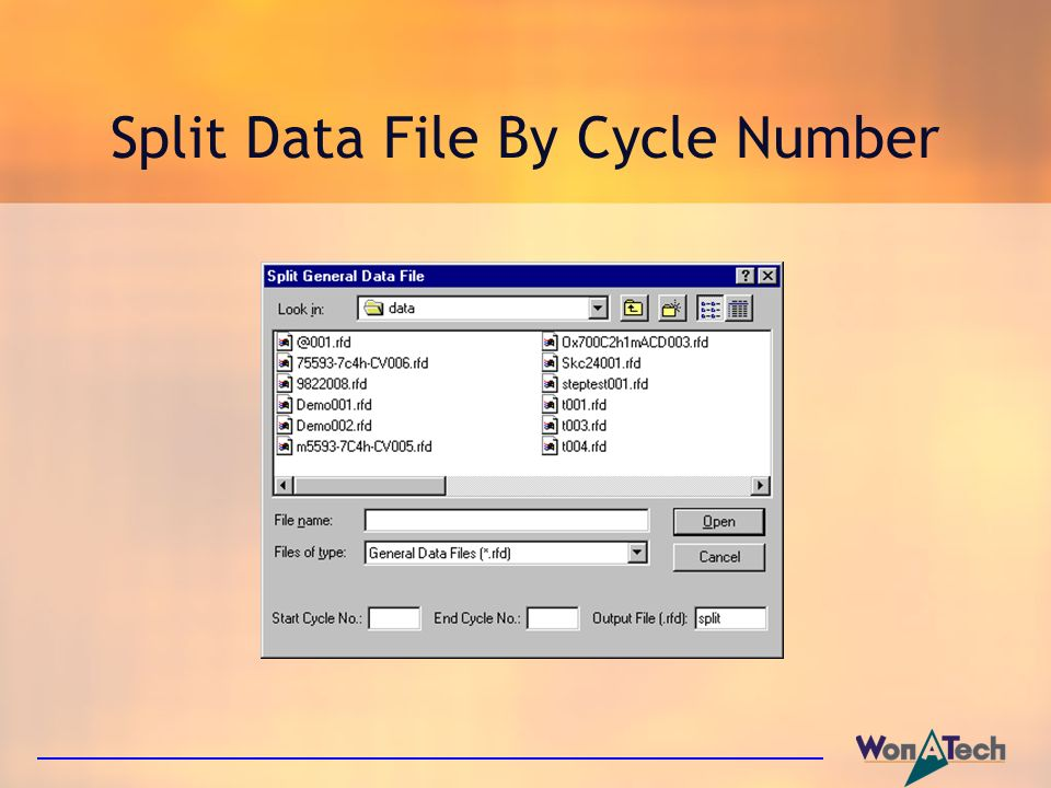 Split Data File By Cycle Number