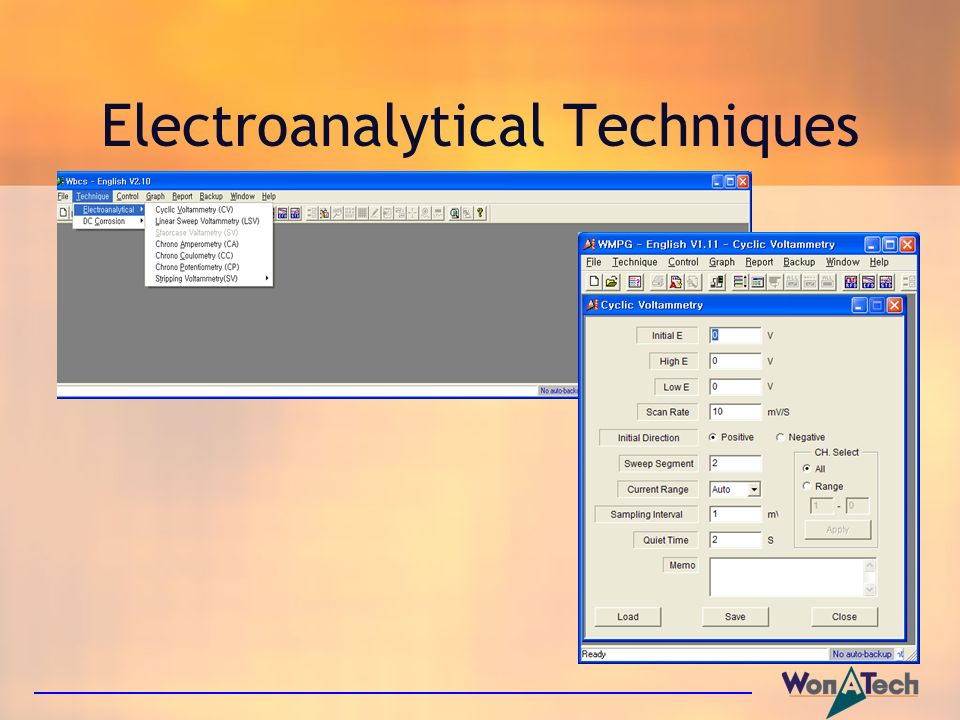 Electroanalytical Techniques