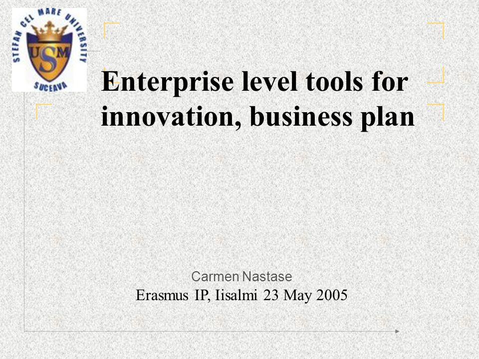 innovator business plan