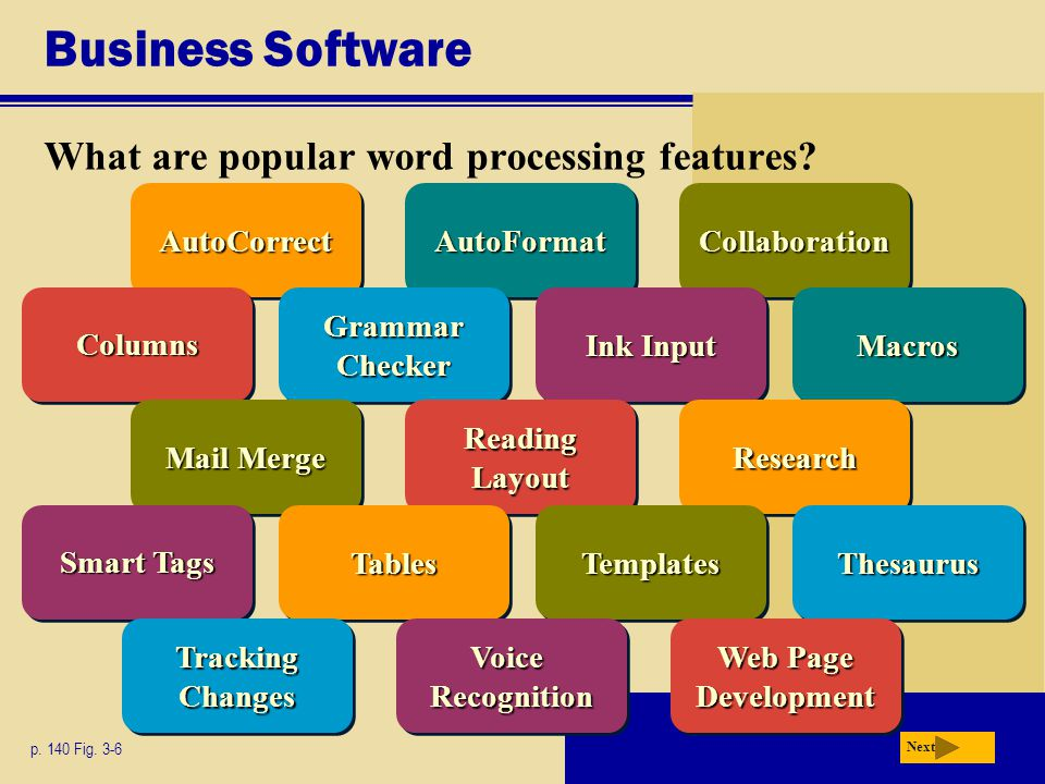 Business Software What are popular word processing features