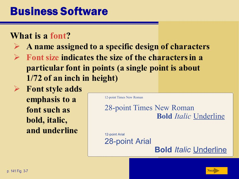 Business Software What is a font