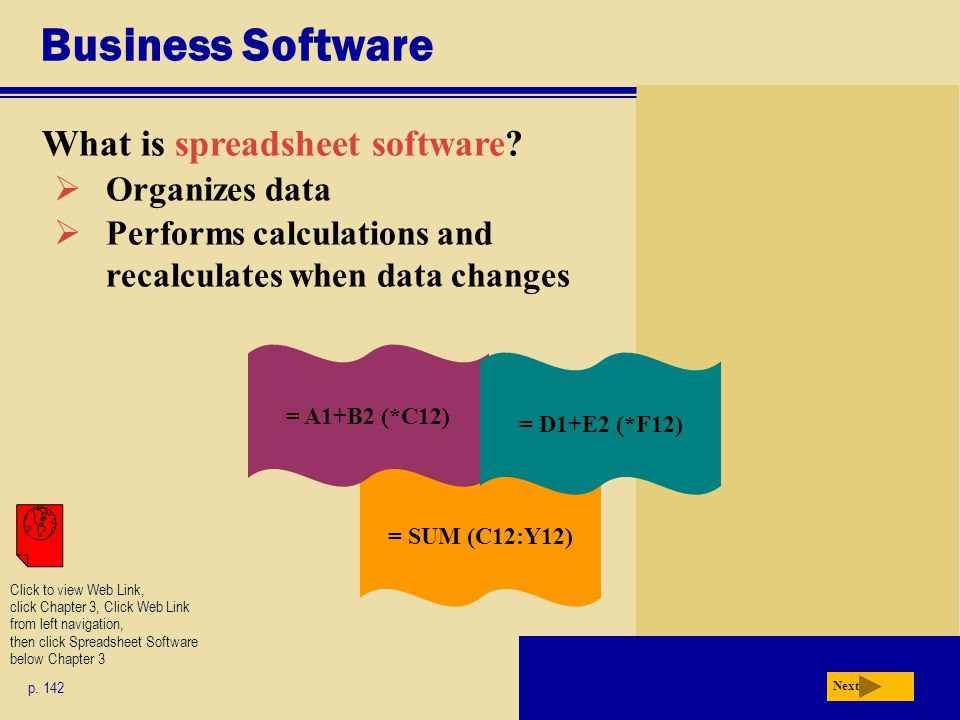 Business Software What is spreadsheet software Organizes data