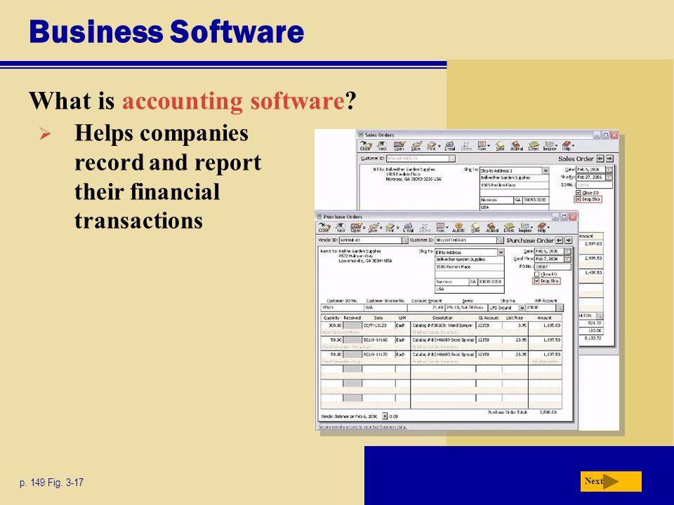 Business Software What is accounting software