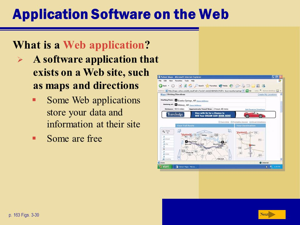 Application Software on the Web