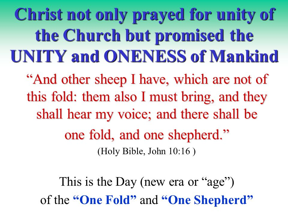 unity in the bible pdf