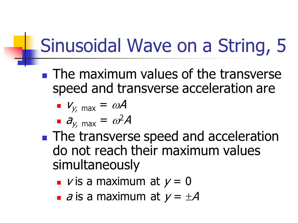 Sinusoidal Wave on a String, 5