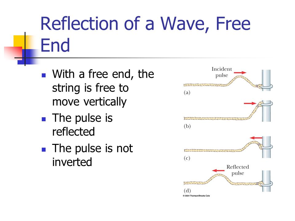 how to draw free end reflection