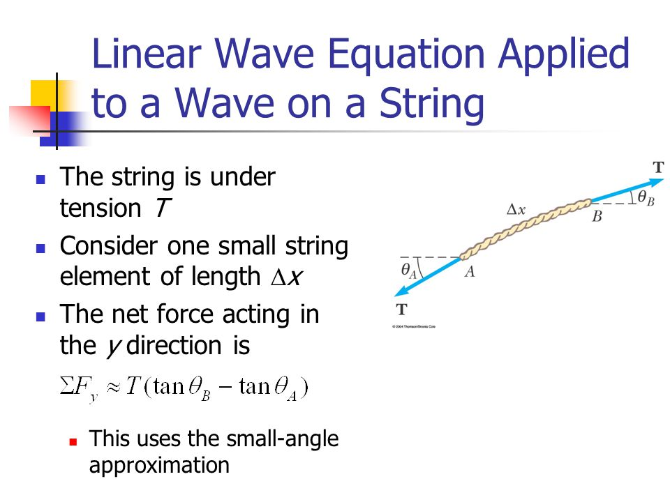 Linear Wave Equation Applied to a Wave on a String