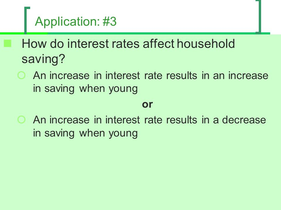 How do interest rates affect household saving