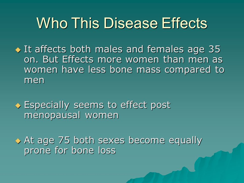 Who This Disease Effects