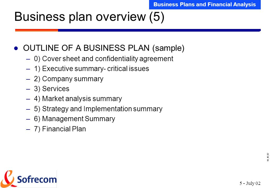 Sample Financial Plan Your Financial Plan Business Plan Toolkit