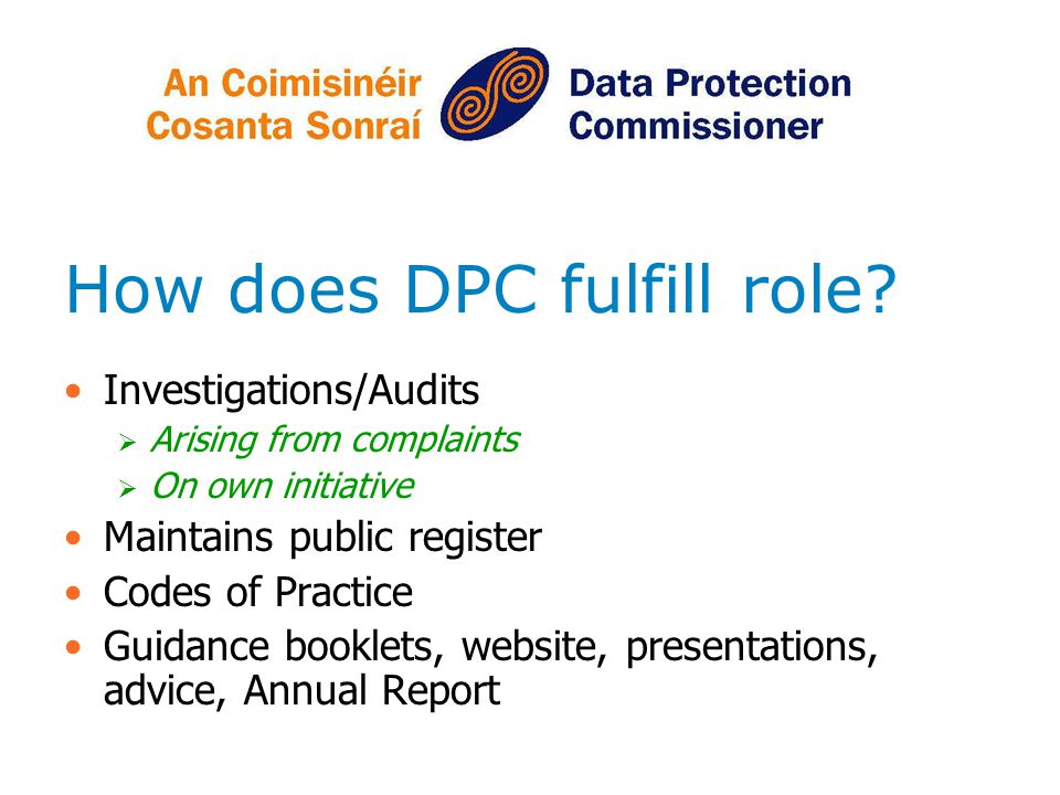 How does DPC fulfill role